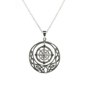 Outlander Inspired Compass Silver Pendant 1011